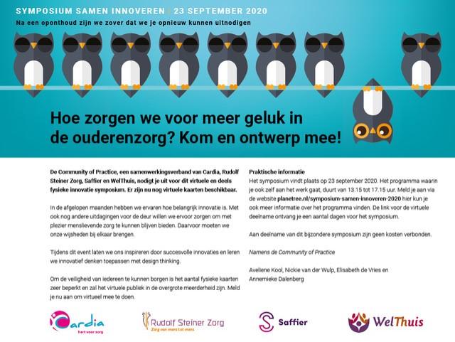 Symposium Samen innoveren – 23 september 2020