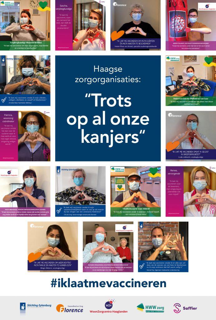Zorgmedewerkers moedigen vaccinatie aan middels actie #iklaatmevaccineren