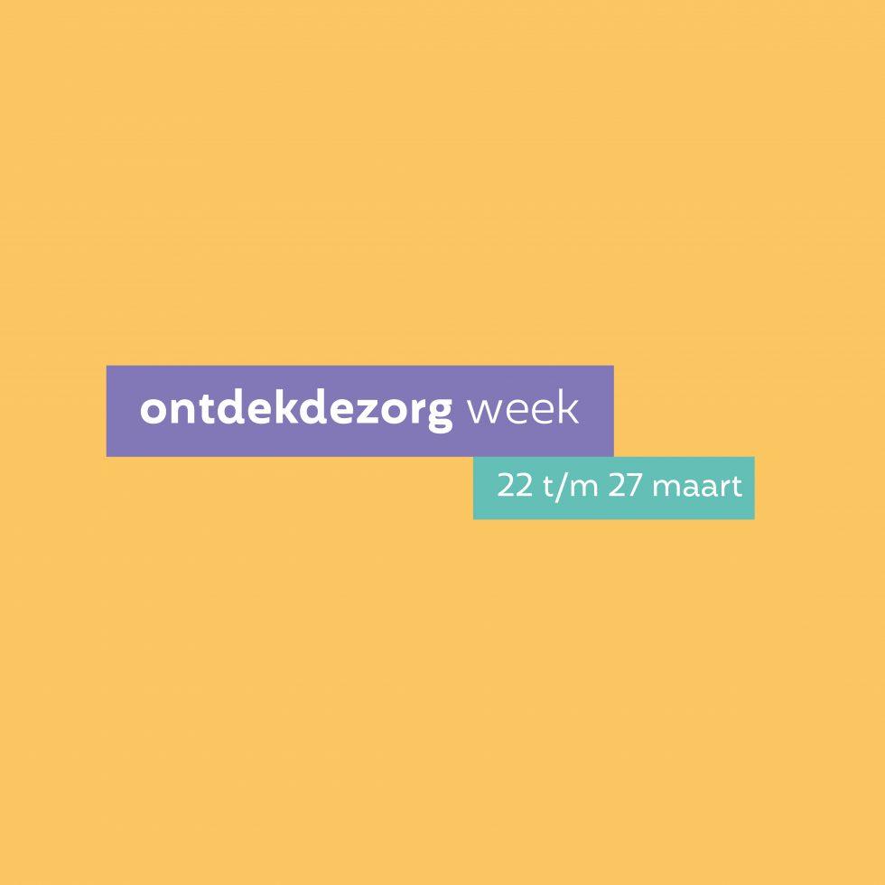 Ontdekdezorg week dit jaar online